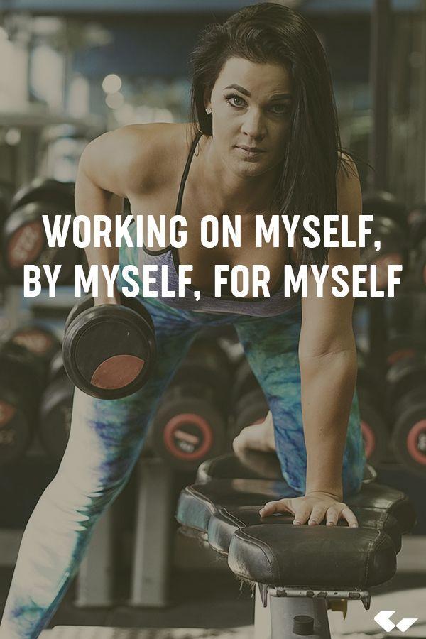 Working on myself, by myself, for myself  #fitness #Inspiration #fitnessf