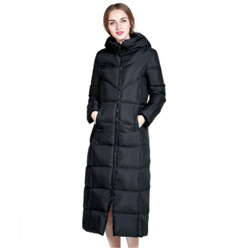 f204b1f43 S-6XL Big Size Winter Women Down Coat Ultra Light White Duck Parkas ...