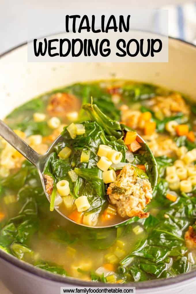 Italian wedding soup Recipe Wedding soup, Family meals
