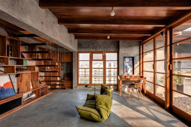bildergebnis für schwebende holzdach   innenarchitektur, Innenarchitektur ideen
