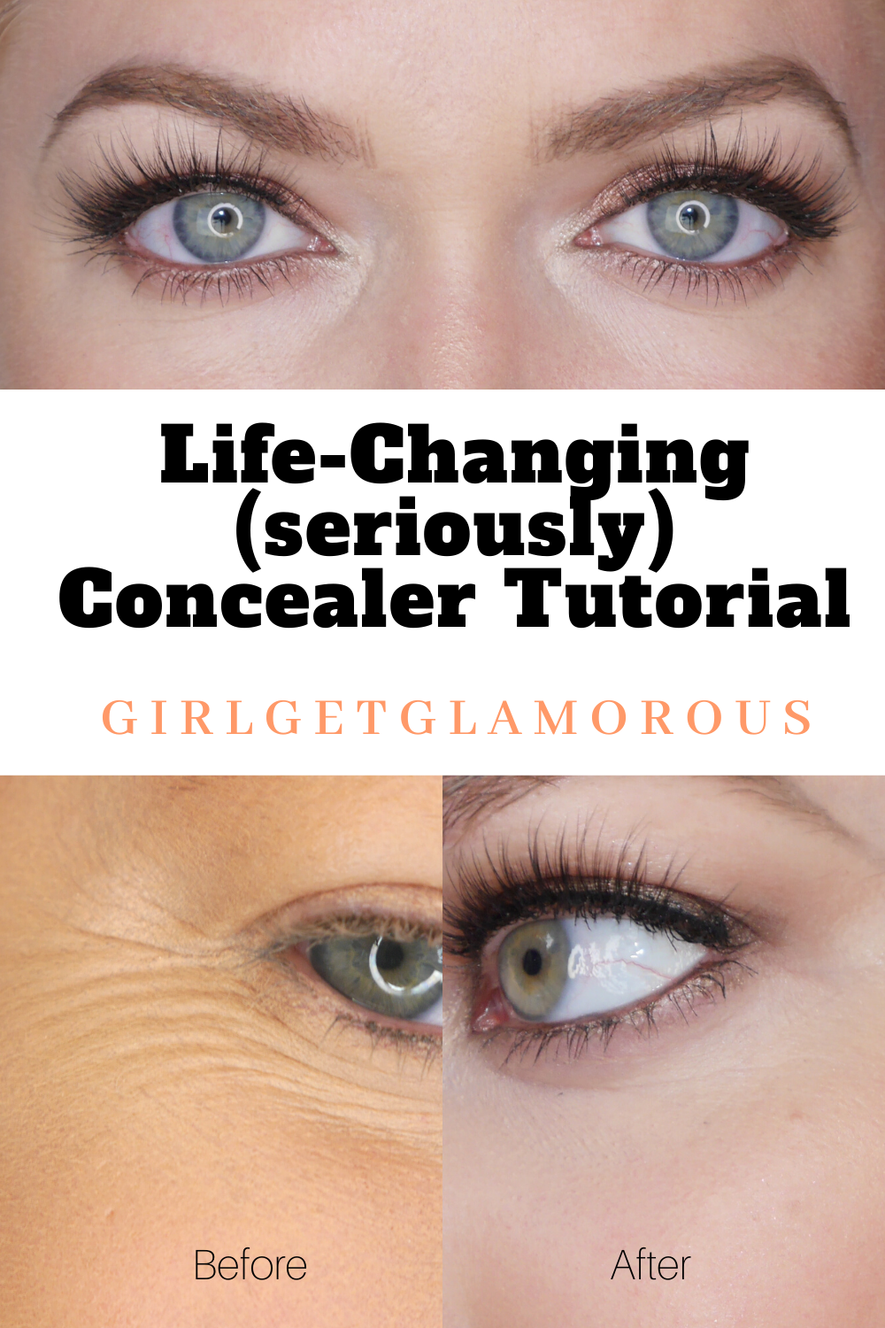 best concealer tutorial I've ever watched, life changing for dry and mature skin and dark circles | #concealer #beforeandafter #howto #makeuptips #mua #bridalmakeup #makeupadvice #makeuphacks #concealertutorial #tutorial #beauty