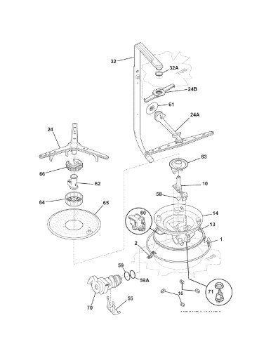 154792602 Dishwasher Spray Arm By Frigidaire 35 00 154792602