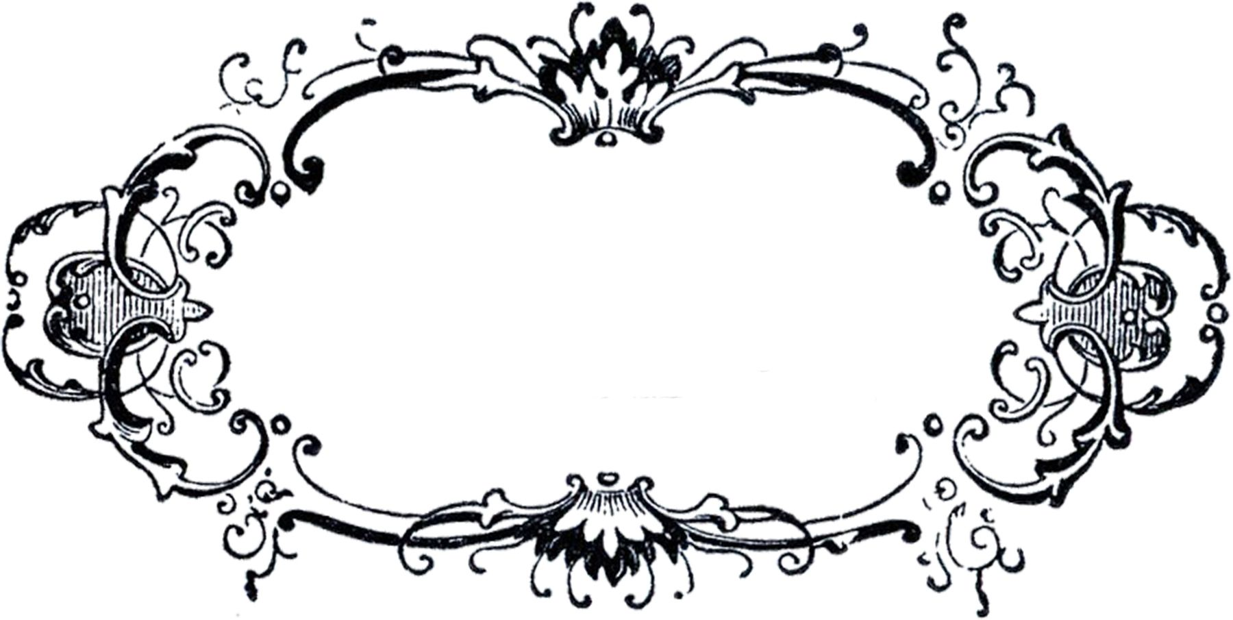 Fancy Black And White Borders And Frames
