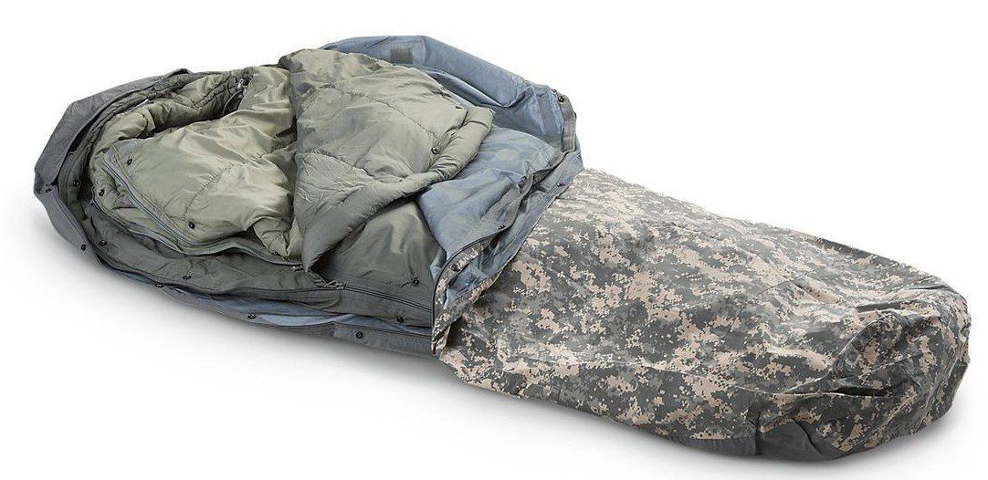 Military Outdoor Clothing Previously Issued U S G I Improved Acu Digital Modular Sleeping Bag System 5 Pie Outdoor Outfit Sleeping Bags Camping Sleeping Bag