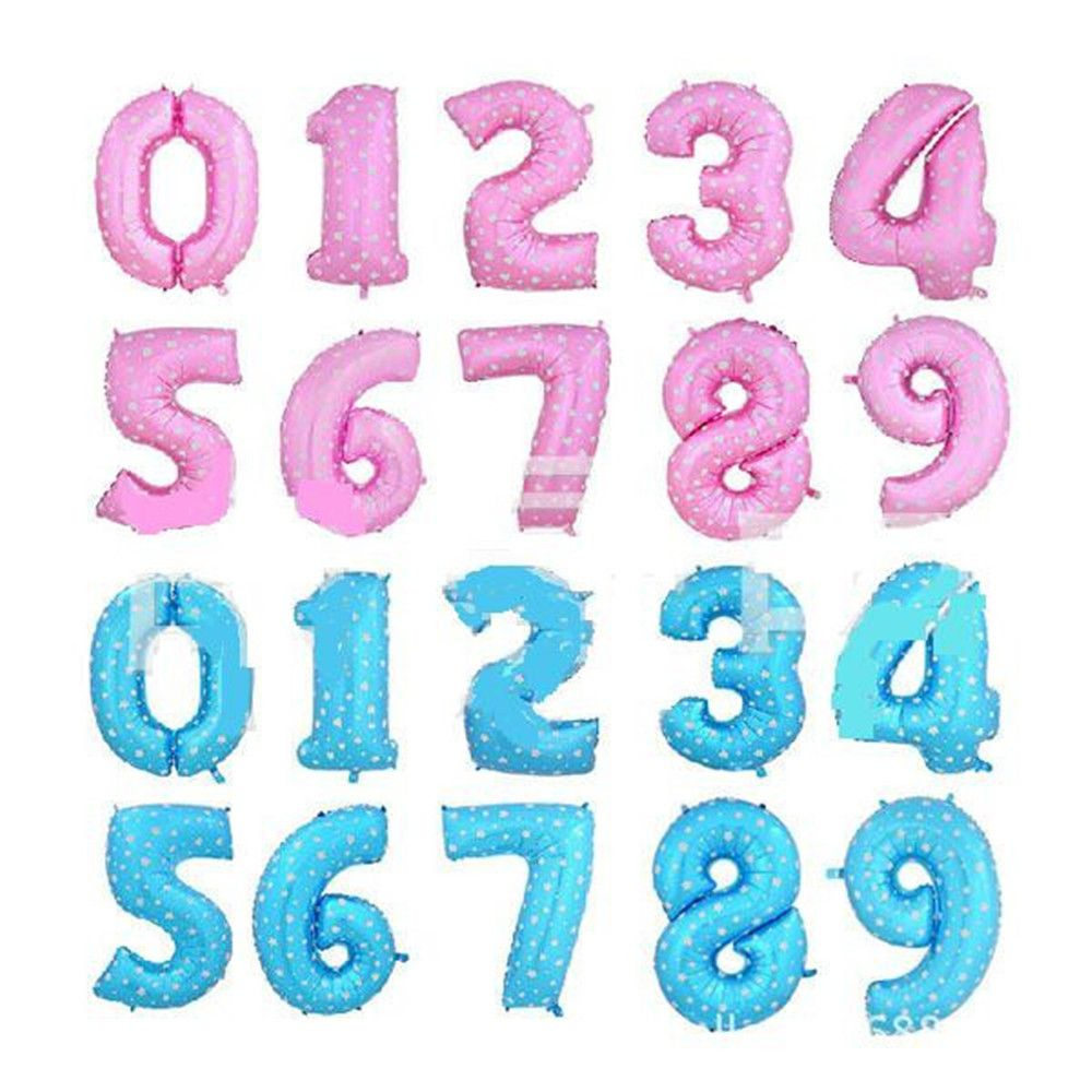 Birthday toys images  inch Large Blue Pink Number Foil Helium Balloons Birthday Party