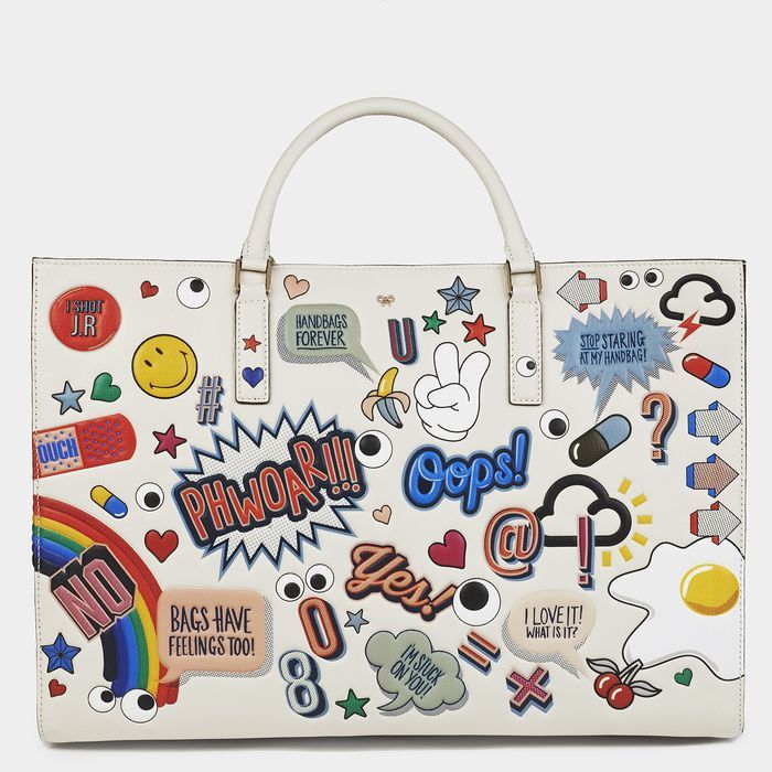 Anya Hindmarch SS15 Maxi Stickered-Up Featherweight Ebury Bag £1995 (available to pre-order)
