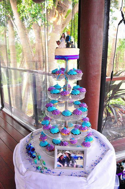 Purple And Turquoise Wedding Cupcakes Wedding Cupcakes Peacock