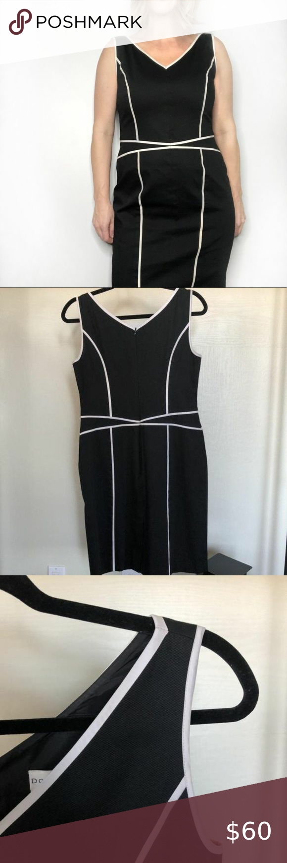 Doncaster Black And White Sheath Classy Super Nice Black Cotton Blend Sheath Dress With White Trim By Doncaster Fashion Dress Size Chart Women Long Blue Dress [ 1740 x 580 Pixel ]