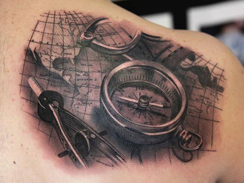компас на карте гугл