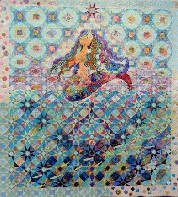 Storms At Sea Via Zaza Belle Mermaid Quilt Ocean Quilt