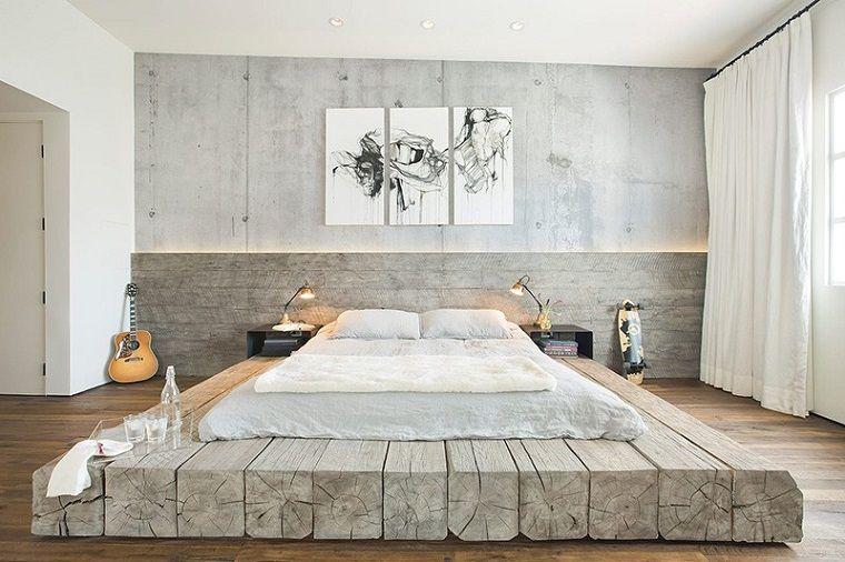 Stanze Da Letto Moderne Bianche : Camere da letto moderne travi legno materasso parete decorazione