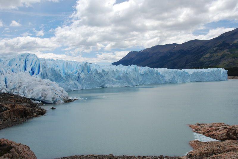 Glaciares congelados en Rosario, Argentina.