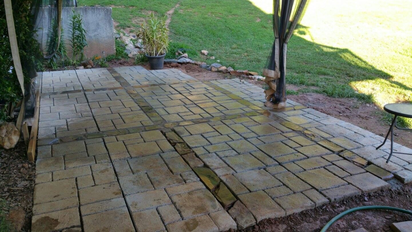 This 20' x 15' WalkMaker patio was created by one of our ...