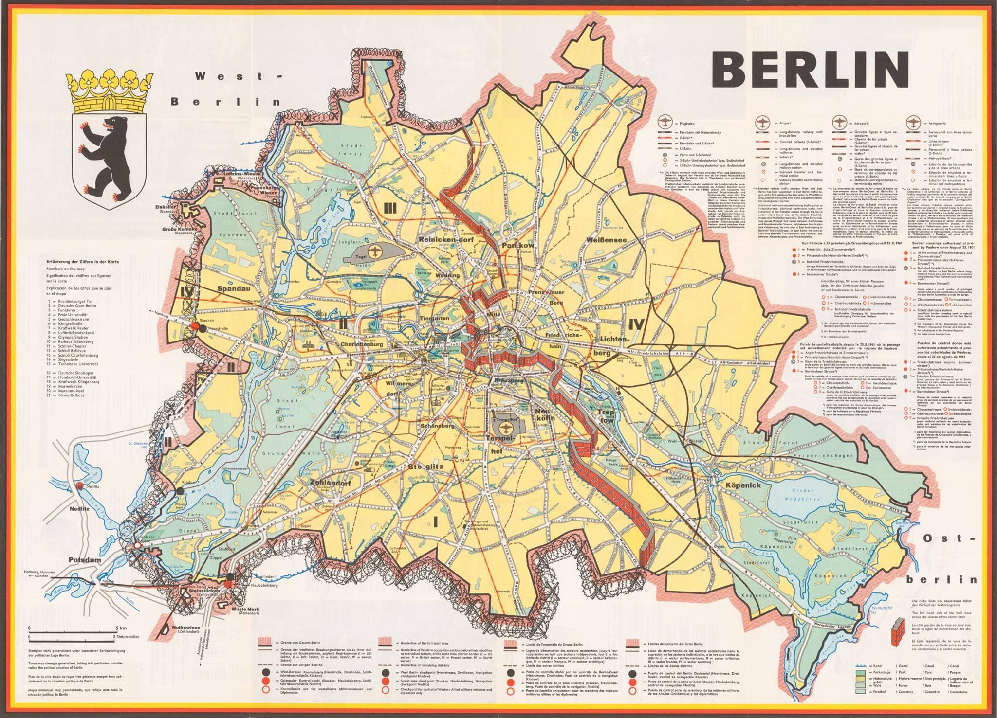 Berlin 1962 Kalter Krieg Propaganda Berlin Karte Berliner Mauer Karte