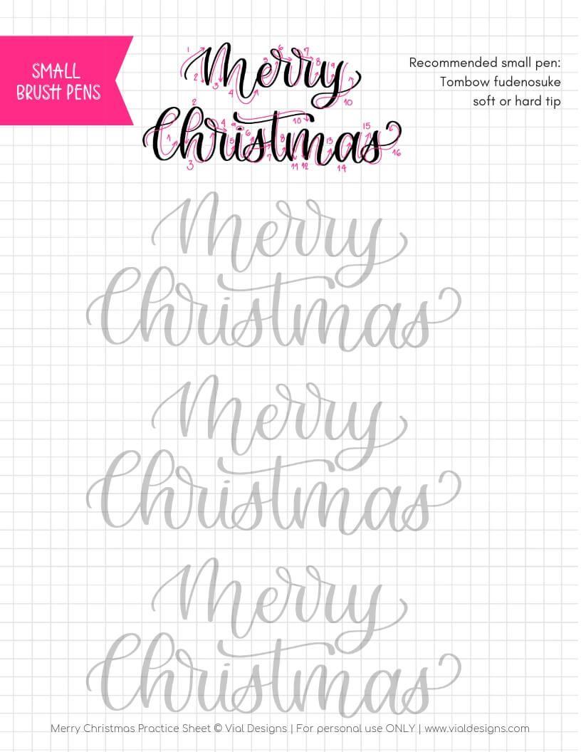Merry Christmas Calligraphy Tutorial Free Practice Sheet Brush Lettering Worksheet Hand Lettering Practice Sheets Brush Lettering Practice [ 1056 x 816 Pixel ]