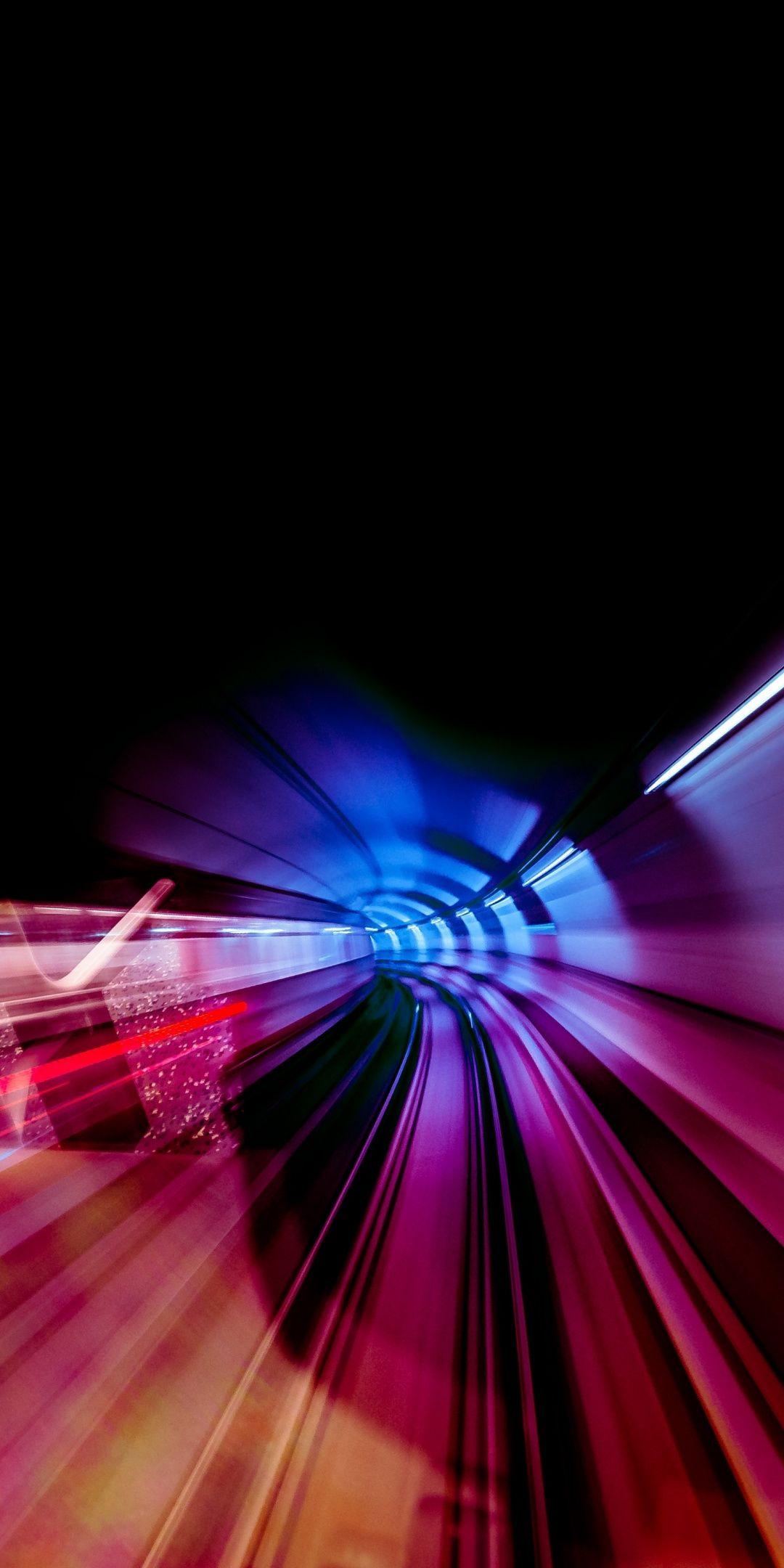 Tunnel Turn Motion Blur Backlight 1080x2160 Wallpaper Iphone Wallpaper Blur Technology Wallpaper Wallpaper