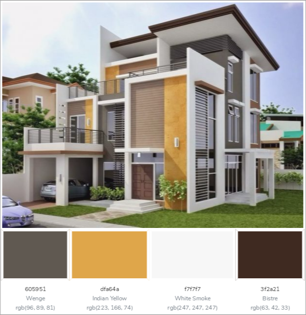 This Awesome House Exterior Has 4 Colors Combination With Exterior House Paint Color Combinations Exterior Paint Color Combinations Exterior Color Combinations