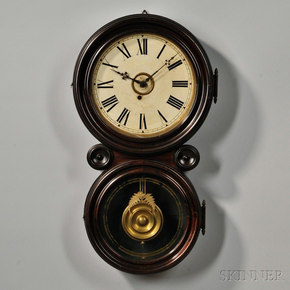 E ingraham rosewood ionic wall clock steampunk airship e ingraham rosewood ionic wall clock amipublicfo Images