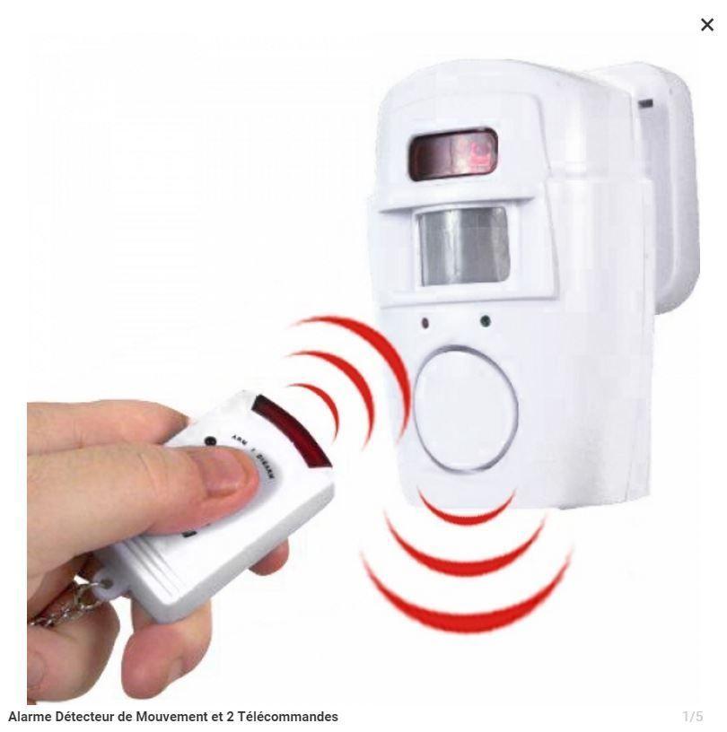Alarme Detecteur De Mouvement Sans Fil Avec 2 Telecommandes Detecteur De Mouvement Telecommande Tout Pour La Maison