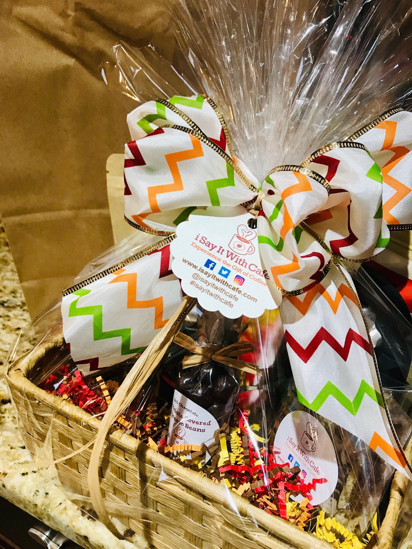 Coffee gift basket custom made etsy coffee gifts