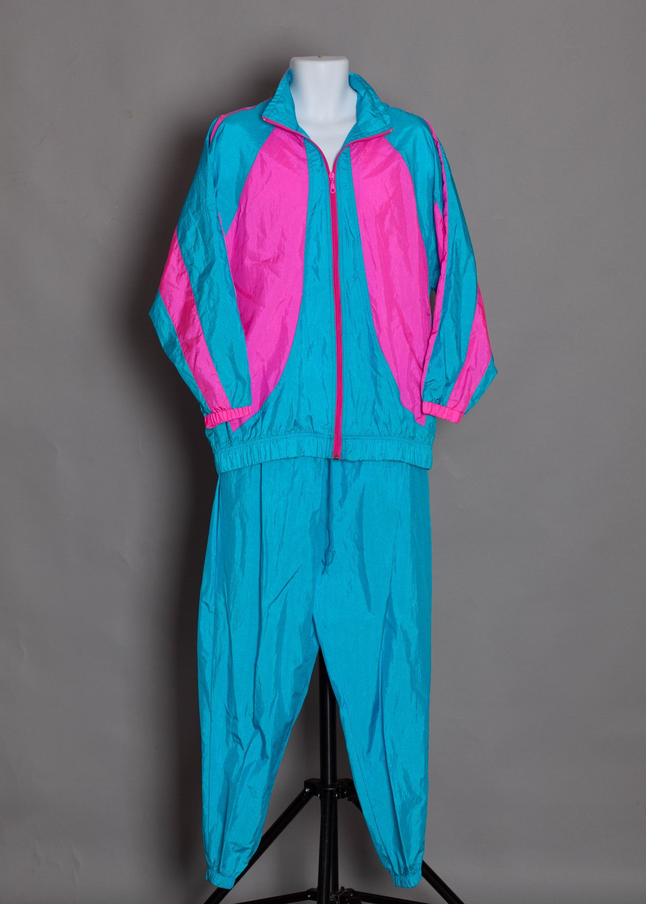 Champion Classic logo design Men/'s Blue//Turquoise Half Zip Windbreaker Jacket