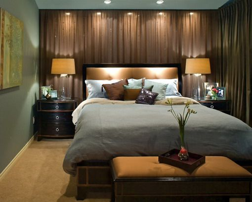 Bedroom Master Bedroom Curtain Idea With Brown Drapes And White Sheer Curtain Traditional Bedroom Design Luxury Bedroom Design Luxurious Bedrooms