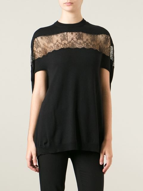 Valentino Lace Panel Sweater - Gaudenzi - Farfetch.com
