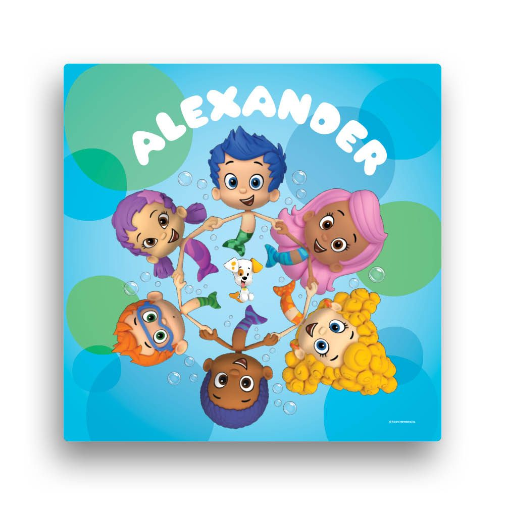 Bubble Guppies Circle of Friends 16 x 16 Canvas Wall Art - Wall ...