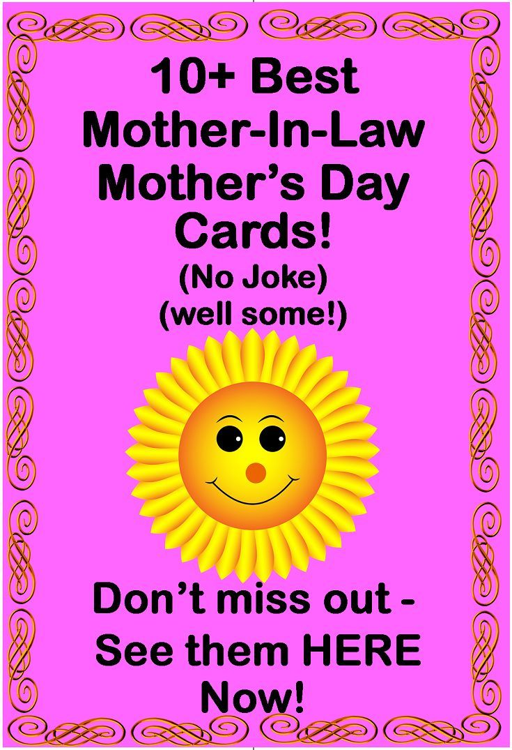 Mothers Day Cards For A Mother In Law Best Mothers Day Cards