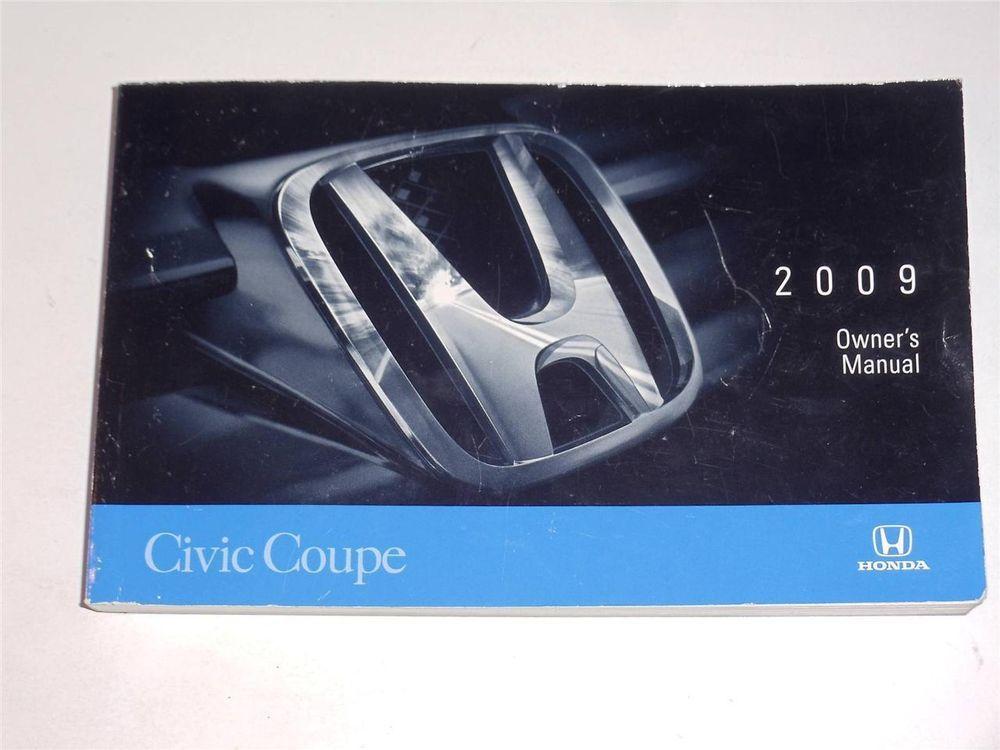 2009 Honda Civic Coupe Owners Manual Book Civic Sedan Honda Civic Sedan 2006 Honda Civic