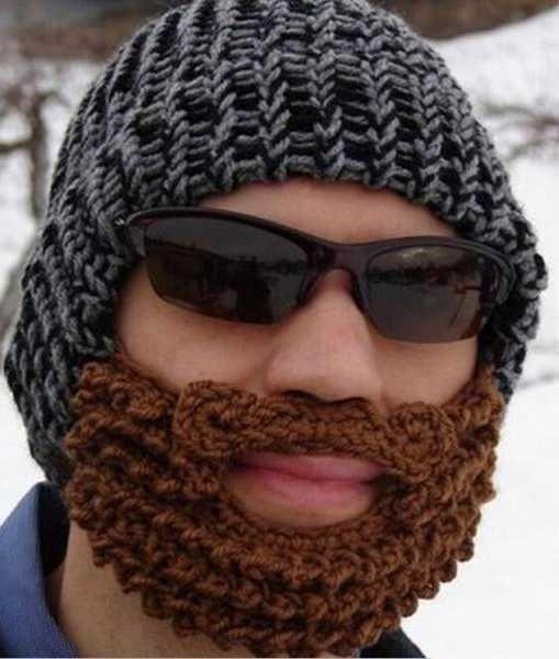 Crocheted Beanie with Anti-Wind Beard  e45714b60a9b