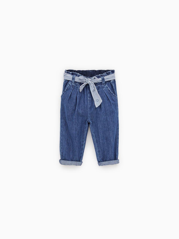 8c2e99da Belted flowy jeans | Kids Clothes | Belt tying, Jeans, Zara baby