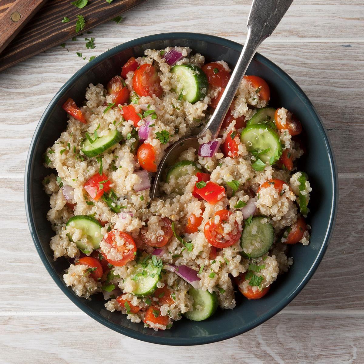 Vegan Quinoa Salad Recipe Side Dishes Easy Healthy Salad Recipes Vegan Quinoa Salad Recipes