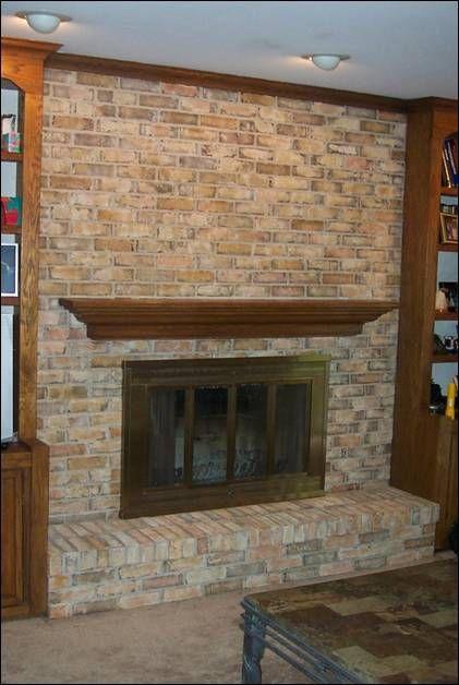 Brick Fireplace, How To Paint A Brick Fireplace Look Like Stone