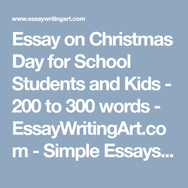 simple essay for kids