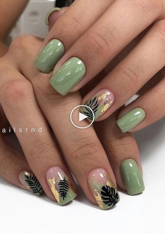 47 Stunning Short Square Nails Summer Design For Manicure ...