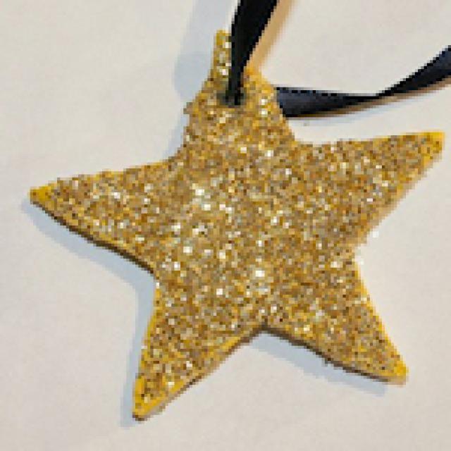 Christmas Star Craft Ideas Part - 24: Shining Star Necklace Or Ornament: Clay Star Necklace Or Ornament. Craft  Ideas ...