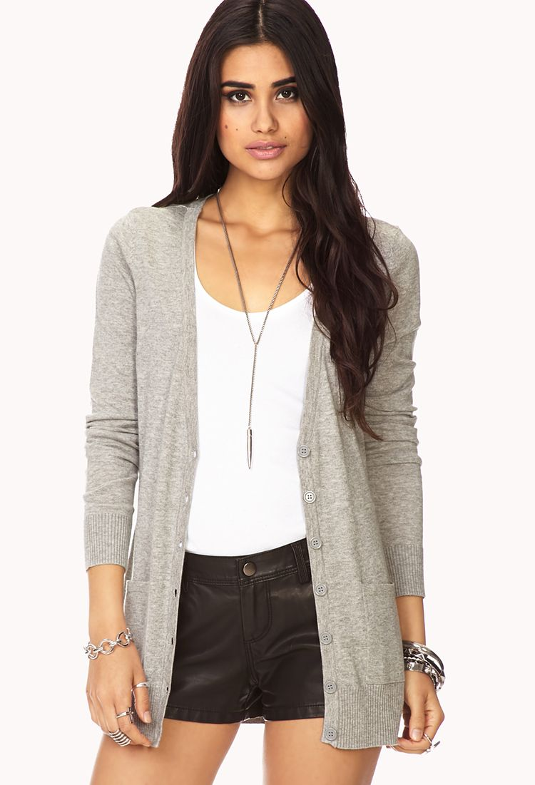 Lightweight Cardigan | FOREVER21 - 2058565927 | Outfit ideas ...