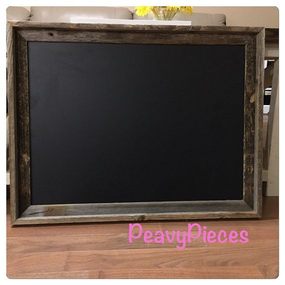 Large Chalkboard Barn Wood Frame Chalkboards Menu Wedding Sign