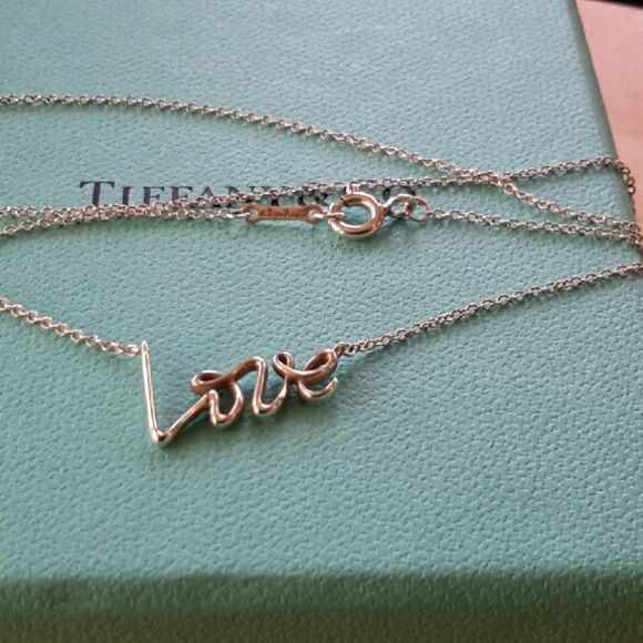 """Tiffany & Co. Peloma Picasso Love Necklace Tiffany & Co. sterling silver 925 Peloma Picaso love Necklace  16"""" ☺~~ Tiffany & Co. Jewelry Necklaces"""