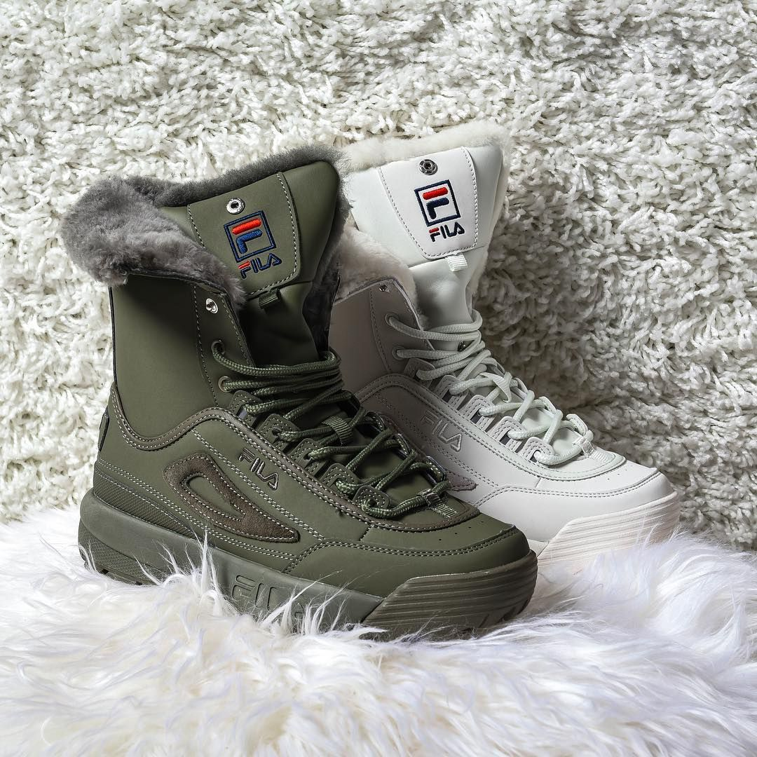 "Lady Foot Locker on Instagram: ""Cozy up in the new Fila ..."