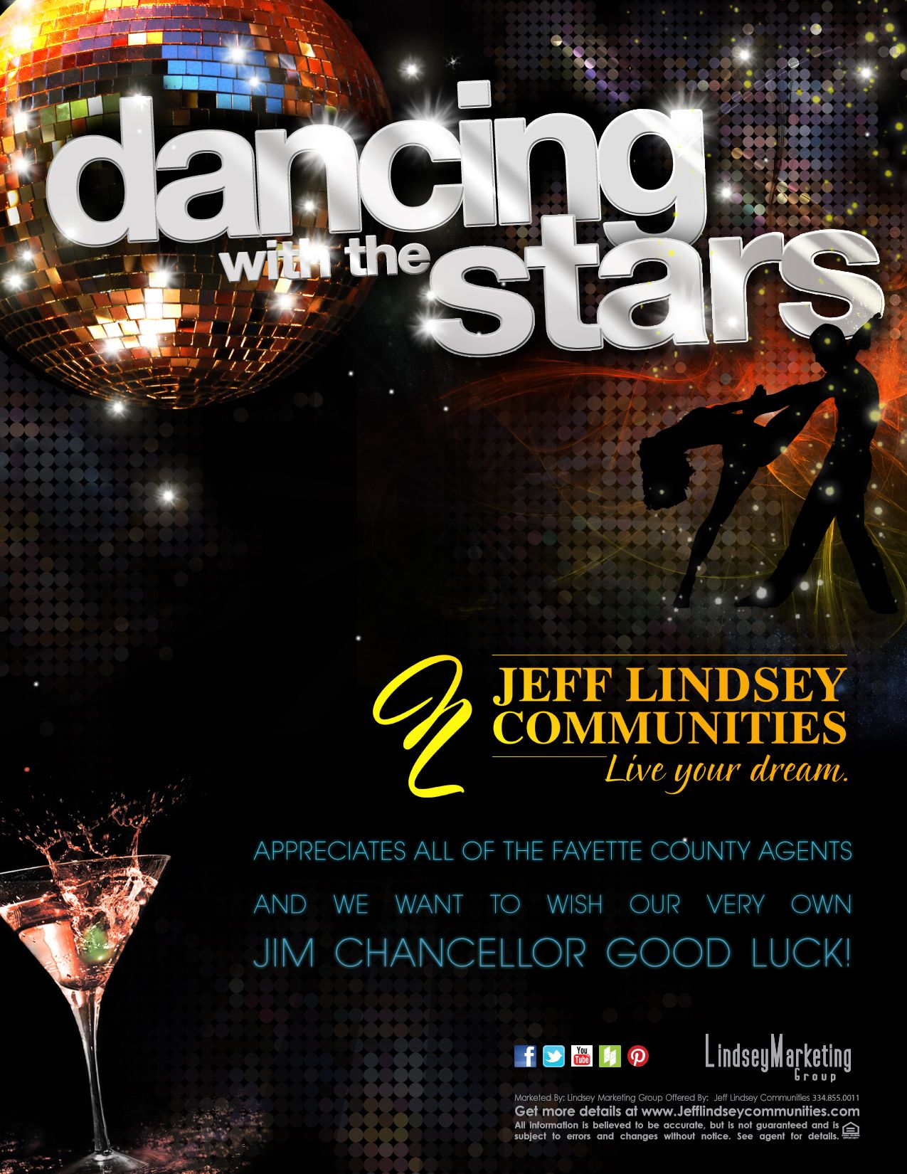 Dancing With The Stars Flyer For Jeff Lindsey Communities Dance Fayette Dancing With The Stars