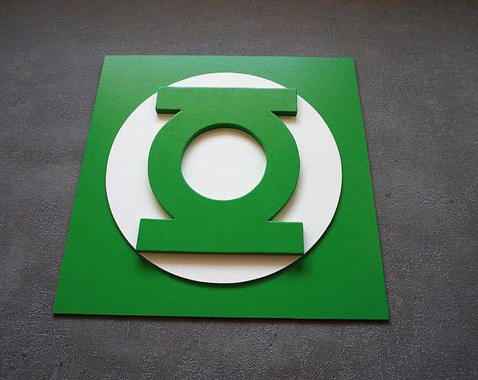 Shipping 50% discount, Superhero Green Lantern, Wall art, Kids ...