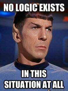 I agree with you Mr.  Spock