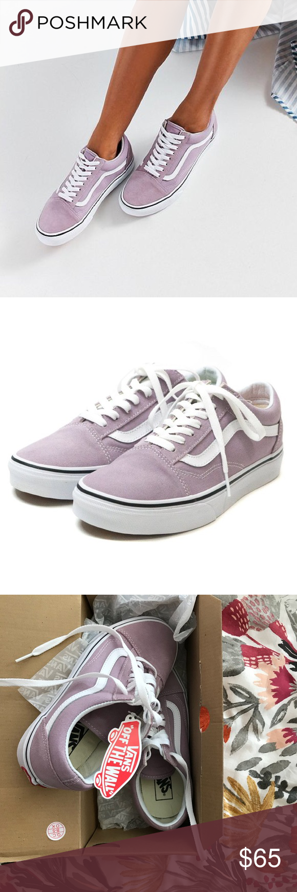 0b6b5a4e05 Vans Old Skool sneakers in Sea Fog (sz 8) Vans Old Skool lace-up sneakers  in a pretty lilac light purple color. The uppers are a mix of suede and  canvas.