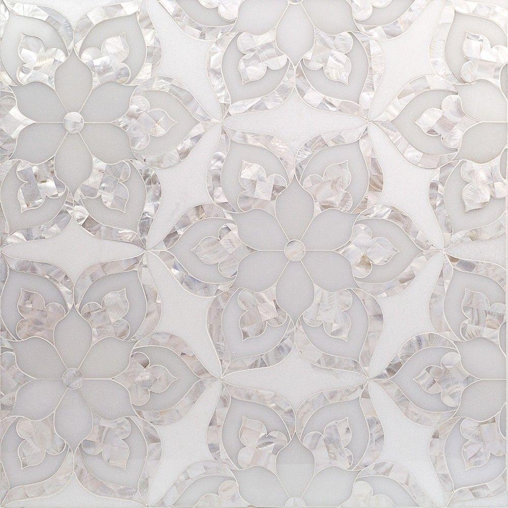 Aurora Marble & Pearl Glass Tile