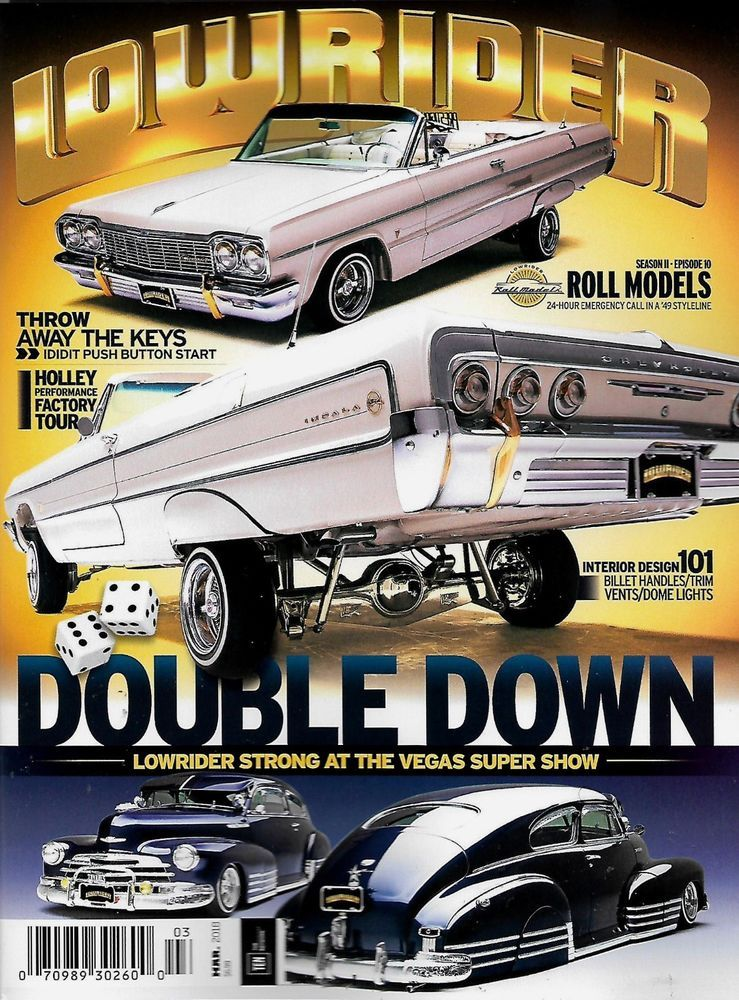 LOWRIDER Magazine March VEGAS SUPER SHOW Fred Raels Impala - Lowrider car show 2018