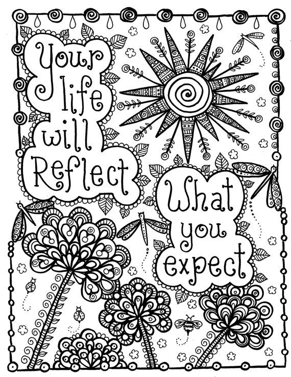 mandala coloring pages meaningful quotes - photo#1