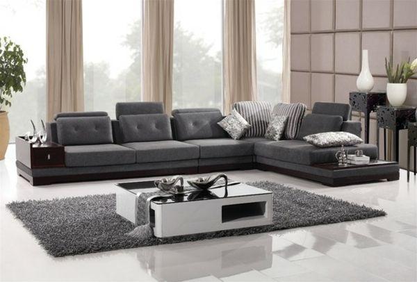 modernes wohnzimmer stilvolles interieur in grau Wohnen - moderne wohnzimmer grau