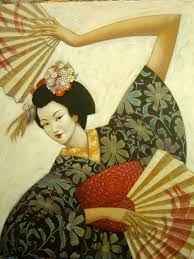 geisha pittura - Cerca con Google